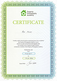 Property Photography Academy Certificate